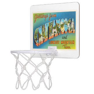 Chattanooga Tennessee TN Vintage Travel Souvenir Mini Basketball Hoop