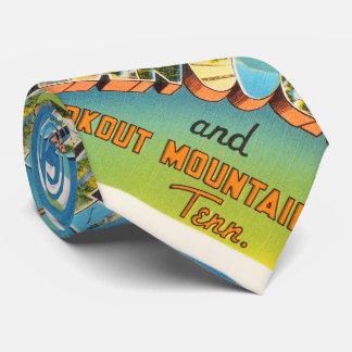 Chattanooga Tennessee TN Vintage Travel Souvenir Tie