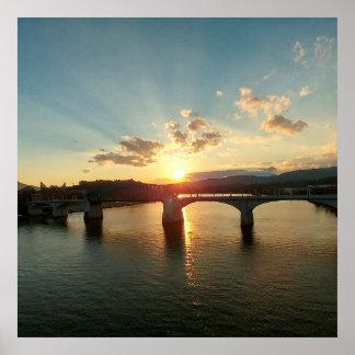 Chattanooga TN Walnut Street Bridge Poster