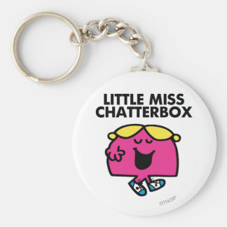 Chatting With Little Miss Chatterbox Basic Round Button Keychain