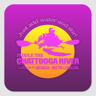 Chattooga River (Sunset) Square Sticker