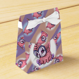 CHATTOU  SAD LITTLE CATTent with Ribbon Favor Favor Box