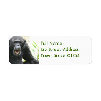 Chatty Chimpanzee Mailing Labels