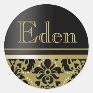 """Chaucer Sticker """"Eden"""" (black/gold)"""