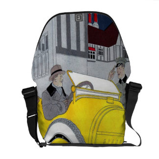 Chauffers Night Off Vintage Classic Car Art Deco Commuter Bags