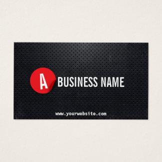 Chauffeur Black Metal Modern Red Label Business Card