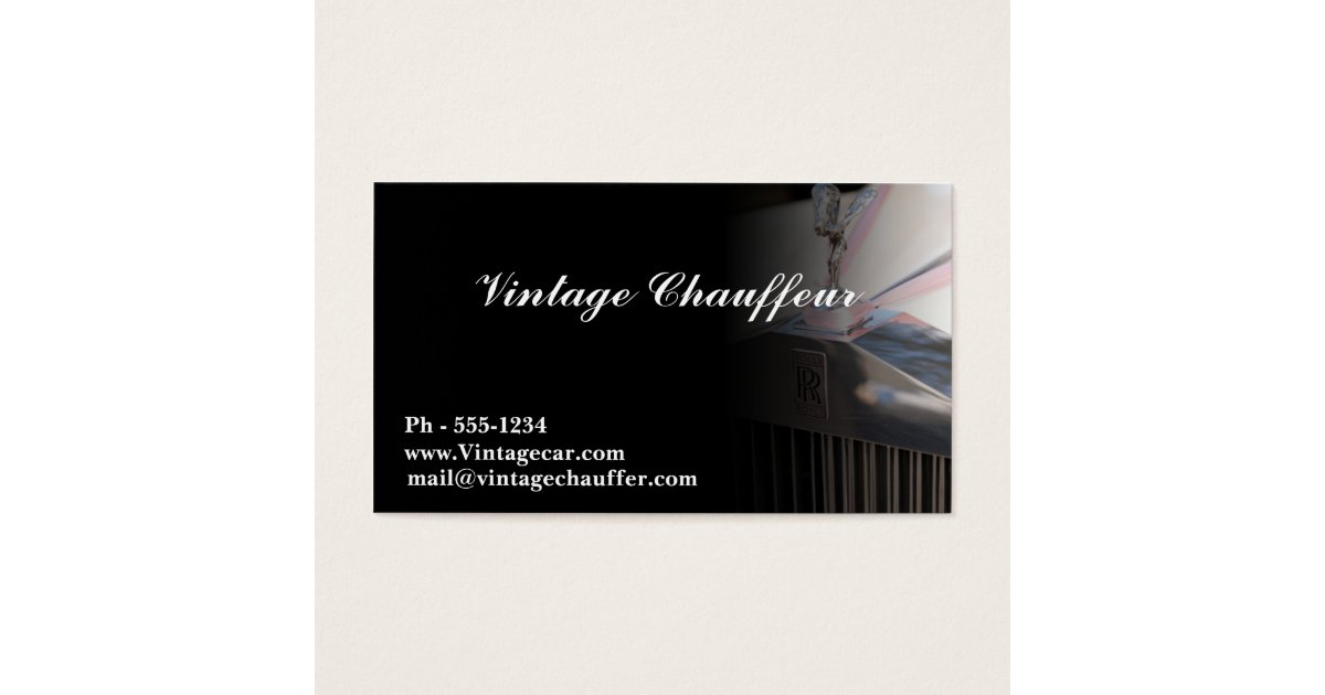 Chauffeur business card zazzleca for Chauffeur business cards