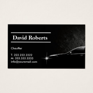 Chauffeur Taxi Driver Professional Dark Business Card