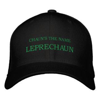 CHAUN'S THE NAME, LEPRECHAUN EMBROIDERED BASEBALL CAP