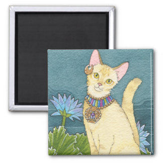 Chausie square magnet