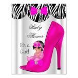 Chaussure de bébé mignonne de roses indien de faire-part personnalisé