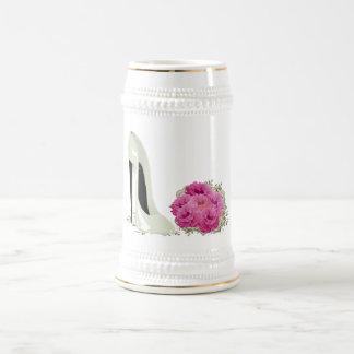Chaussure stylet de mariage et cadeaux de bouquet chope à bière