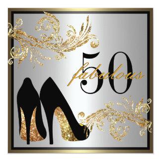 Chaussures de danse - cinquantième invitation