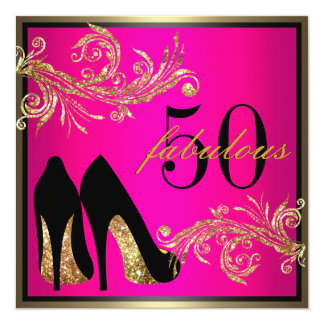 Chaussures de danse - cinquantième invitation carton d'invitation  13,33 cm