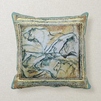 Chauvet Cave Lions Throw Pillow