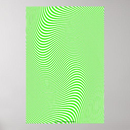 Chaux et affiche blanche de mur d'illusion optique