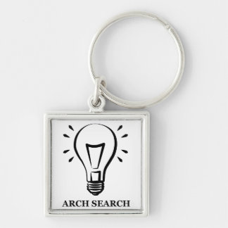 Chaveiro 3,5cm Arch Search Silver-Colored Square Keychain