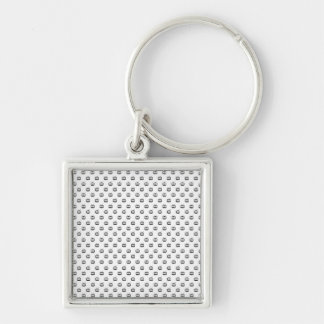 Chaveiro 3,5cm Mesh Arch Search TV Silver-Colored Square Keychain