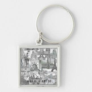 Chaveiro 3,5cm Mural Arch Search Keychain