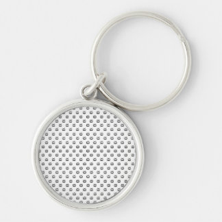 Chaveiro 3,7cm Arch Search TV Silver-Colored Round Keychain