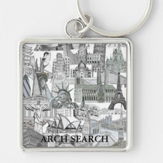 Chaveiro 5,1cm Mural Arch Search Keychain