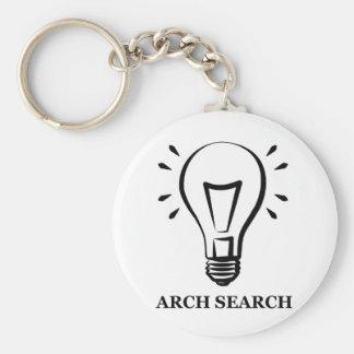 Chaveiro 5,7cm Arch Search Basic Round Button Keychain