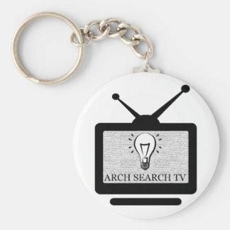 Chaveiro 5,7cm Arch Search TV Basic Round Button Keychain
