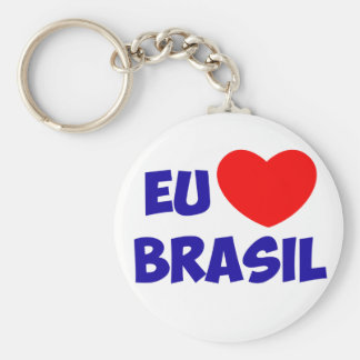 Chaveiro I love Brazil Keychain