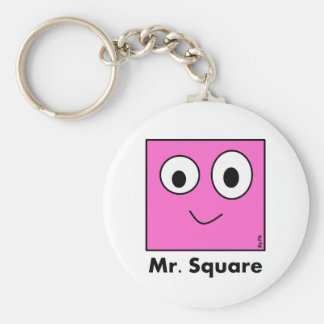 Chaveiro Mr. Square By Par3a Basic Round Button Keychain