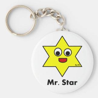 Chaveiro Mr. STAR By Par3a Basic Round Button Keychain
