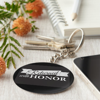 Chaveiro Return with Honour Basic Round Button Keychain