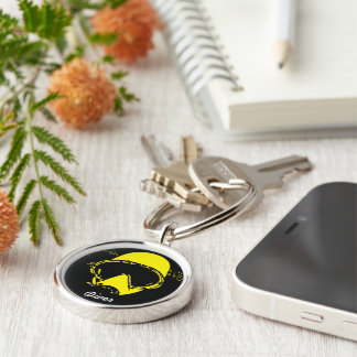 Chaveiro to diver old school yellow keychain