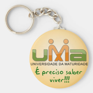 Chaveiro UMA Is necessary knowledge to live Yellow Keychain