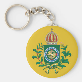 Chaveiro with imperial blazon basic round button keychain
