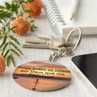 Chaveiro with message basic round button keychain