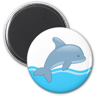 Che Cartoon Jumping Dolphin Magnet