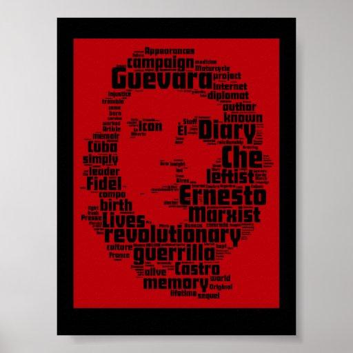 Che Guevara word cloud print