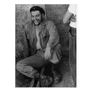 Che laughing postcard