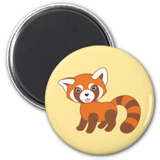 Che Red Panda on Yellow Magnet