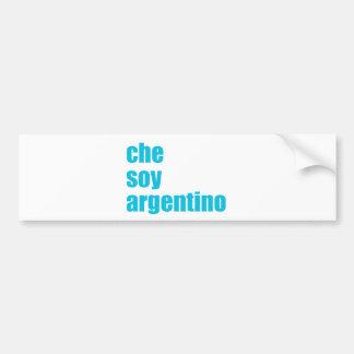 Che soy Argentino Bumper Sticker