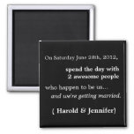 Cheap and Funny Save the Date Magnet 1