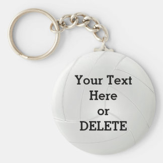 Cheap Bulk Volleyball Gifts YOUR TEXT or DELETE IT Basic Round Button Keychain