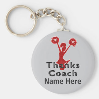 Cheap Cheer Coach Gifts PERSONALIZED Basic Round Button Keychain