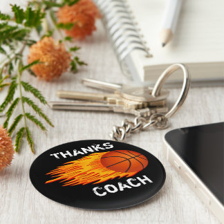 Cheap Customizable Coach Gift Ideas Basketball Keychain