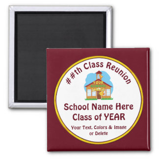 Cheap High School Reunion Gifts, Text and Colors Magnet