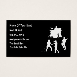 Cheap Musician Band Business Cards