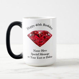 Cheap Personalize Happy 40th Birthday Mugs for Her