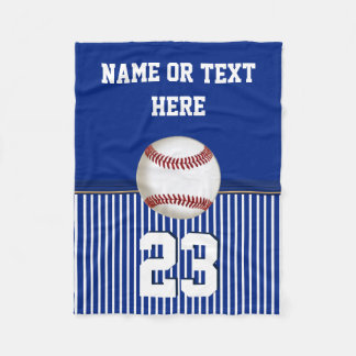 Cheap Personalized Baseball Fleece Throw Blanket