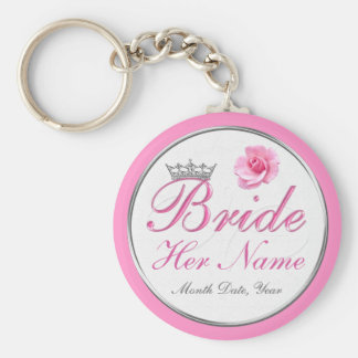 Cheap PERSONALIZED Gift Ideas for Bride to Be Basic Round Button Keychain