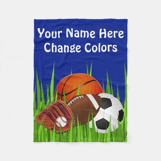 Cheap Sports Fleece Blanket Your TEXT and COLORS